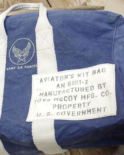 "画像2: TOYS McCOY -AVIATOR'S KIT BAG BLUE ""U.S.A.A.F.""-"