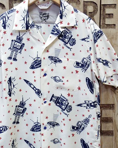 "画像1: Star OF HOLLYWOOD × VINCE RAY -""SPACE ROCKETS"" OPEN SHIRTS-"