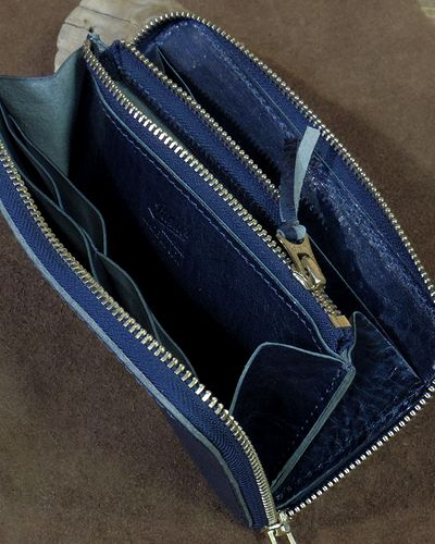 "画像5: BARNS -""LE-4090"" ROUND ZIPPER WALLET-"