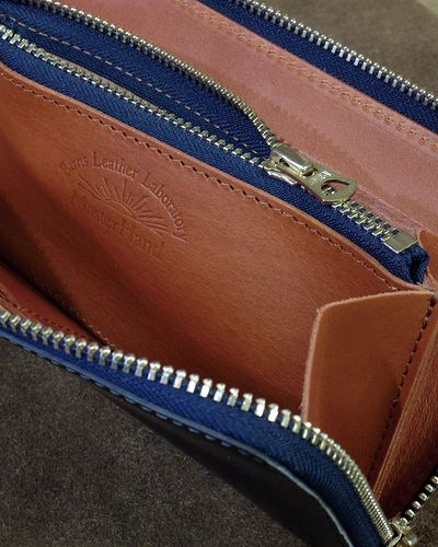"画像5: BARNS -""LE-3017"" CORDOVAN ROUND ZIPPER WALLET-"