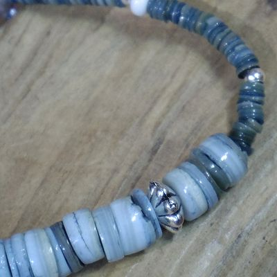 画像3: BARNS×NORTH WORKS -INDIGO SHELL BEADS BRACELET-