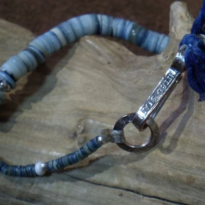 画像5: BARNS×NORTH WORKS -INDIGO SHELL BEADS BRACELET-
