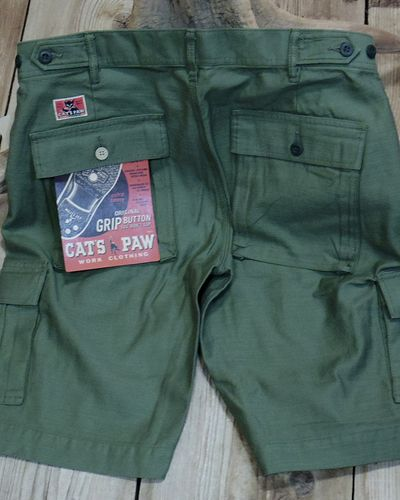 画像4: CAT'S PAW -BACK SATEEN CARGO SHORT PANTS-