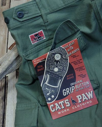 画像5: CAT'S PAW -BACK SATEEN CARGO SHORT PANTS-
