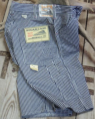 "画像1: Sugar Cane ""11oz. HICKORY STRIPE WORK SHORTS"""