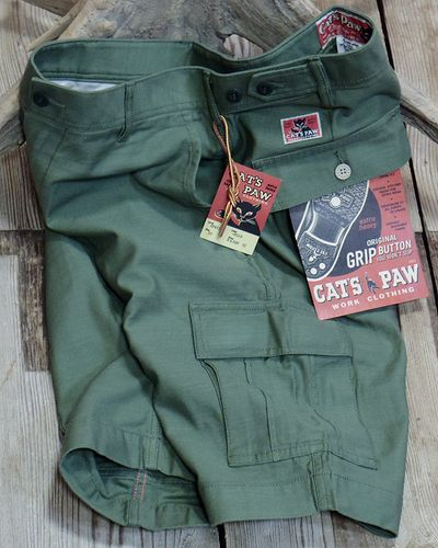 画像1: CAT'S PAW -BACK SATEEN CARGO SHORT PANTS-