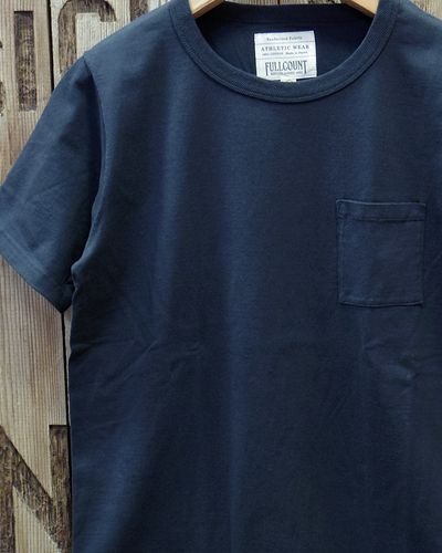 画像1: FULLCOUNT -BASIC POCKET TEE-