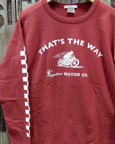 """画像1: BARNS """"Keystone MOTOR OIL"""" LONG SLEEVE TEE"""
