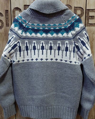 "画像5: Pherrow's ""17W-PSCS1"" Snow Pattern Cowichan Sweater"