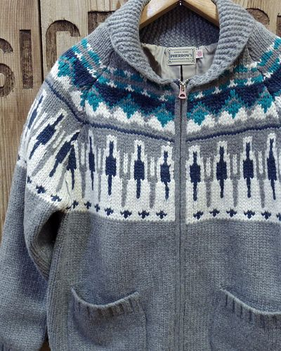 "画像1: Pherrow's ""17W-PSCS1"" Snow Pattern Cowichan Sweater"