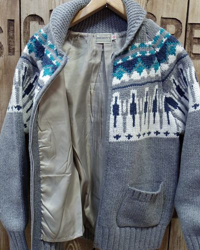 "画像4: Pherrow's ""17W-PSCS1"" Snow Pattern Cowichan Sweater"