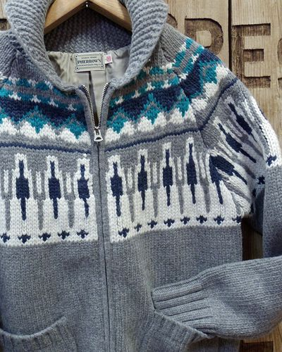 "画像3: Pherrow's ""17W-PSCS1"" Snow Pattern Cowichan Sweater"