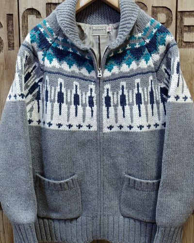 "画像2: Pherrow's ""17W-PSCS1"" Snow Pattern Cowichan Sweater"