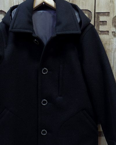 """画像1: Pherrow's """"17W-POJ2"""" Detachable Hood Melton Coat"""