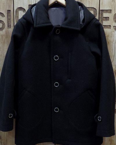 """画像2: Pherrow's """"17W-POJ2"""" Detachable Hood Melton Coat"""