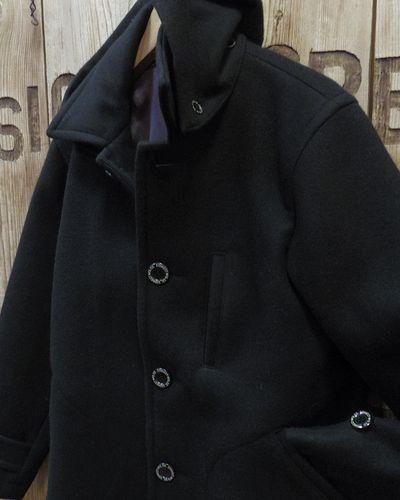 """画像3: Pherrow's """"17W-POJ2"""" Detachable Hood Melton Coat"""