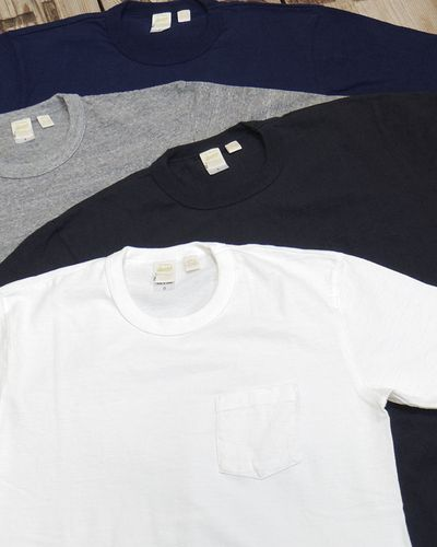 "画像1: BARNS -""Tsuri-Ami"" CREW NECK POCKET T-SHIRT-"