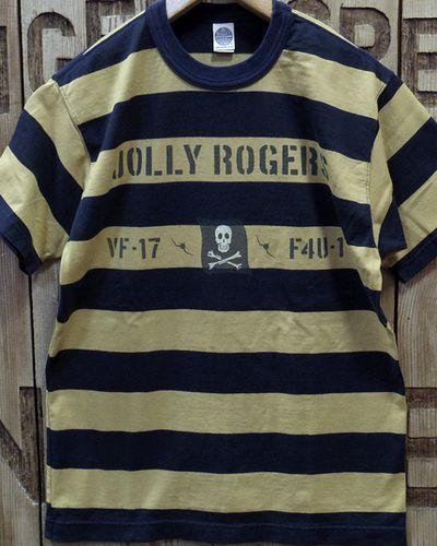 """画像4: TOYS McCOY -MILITARY BORDER TEE SHIRT """"JOLLY ROGERS""""-"""