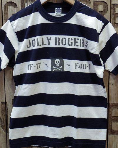 """画像2: TOYS McCOY -MILITARY BORDER TEE SHIRT """"JOLLY ROGERS""""-"""
