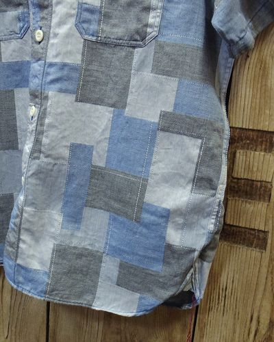 画像4: Sugar Cane -JACQUARD PATCHWORK S/S WORK SHIRT-