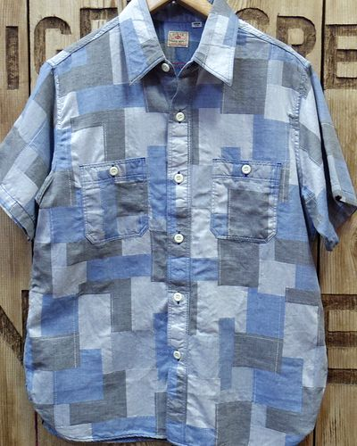 画像2: Sugar Cane -JACQUARD PATCHWORK S/S WORK SHIRT-