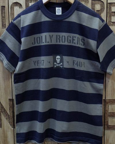 """画像3: TOYS McCOY -MILITARY BORDER TEE SHIRT """"JOLLY ROGERS""""-"""