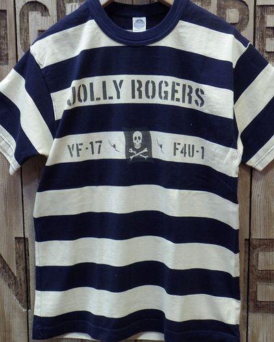 """画像5: TOYS McCOY -MILITARY BORDER TEE SHIRT """"JOLLY ROGERS""""-"""
