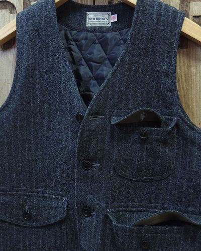 "画像3: Pherrow's ""18W-PWQV1"" Wool Work Vest"