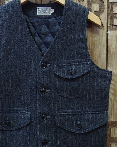 "画像1: Pherrow's ""18W-PWQV1"" Wool Work Vest"