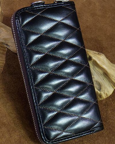 画像3: TOYS McCOY -LEATHER QUILTED LONG WALLET-