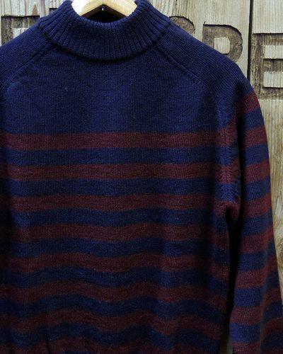 "画像1: Pherrow's ""18W-PJCS1-B"" Border Sweater"