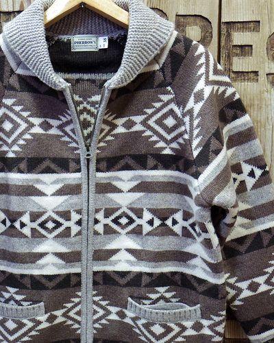 "画像1: Pherrow's ""18W-PRCS1"" Cowichan Sweater"