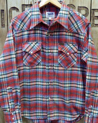 "画像1: Pherrow's ""18W-833CS-C / B"" Flannel Western Shirt"