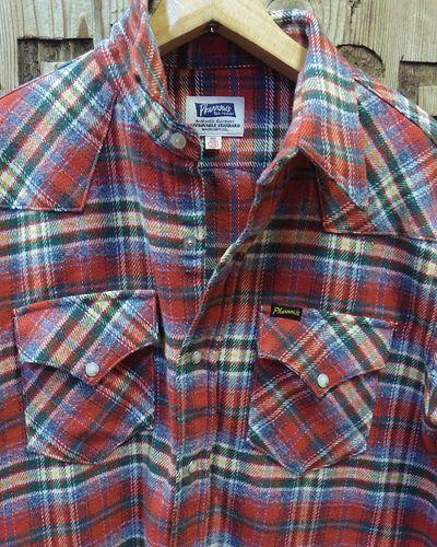 "画像2: Pherrow's ""18W-833CS-C / B"" Flannel Western Shirt"