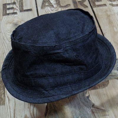 画像3: Sugar Cane -10oz. BLACK DENIM PORKPIE HAT-