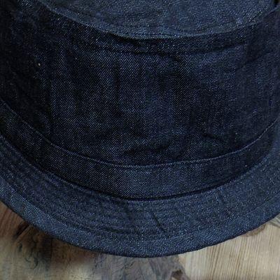 画像2: Sugar Cane -10oz. BLACK DENIM PORKPIE HAT-