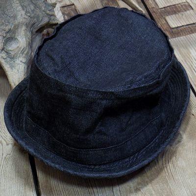画像4: Sugar Cane -10oz. BLACK DENIM PORKPIE HAT-