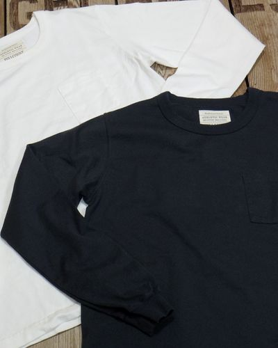 画像1: FULLCOUNT -BASIC POCKET TEE L/S-