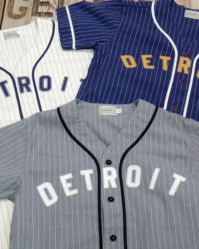 """画像1: Pherrow's -S/S BaseBall Shirt """"DETROIT""""-"""