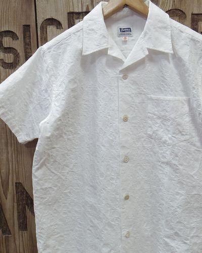 "画像1: Pherrow's ""19S-PIS1"" Jacquard S/S Open Shirt"