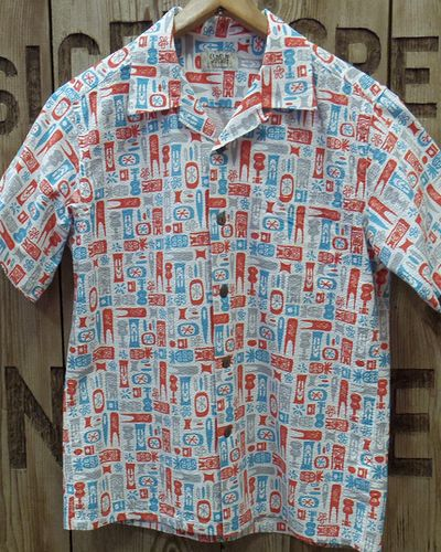 "画像4: SUN SURF -""TIKI ALLOVER"" COTTON OPEN SHIRT-"