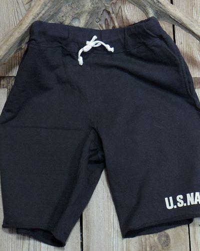 """画像4: DUBBLE WORKS -SWEAT SHORT PANTS """"U.S.NAVY""""-"""