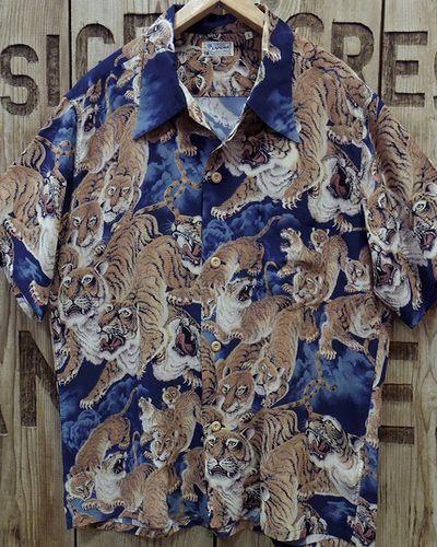 """画像2: SUN SURF -""""One Hundred Tigers"""" KALAKAUA- Hawaiian Shirts"""
