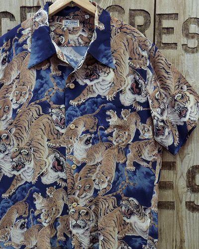 """画像1: SUN SURF -""""One Hundred Tigers"""" KALAKAUA- Hawaiian Shirts"""