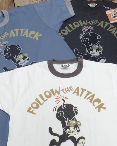 "画像1: TOYS McCOY -MILITARY TEE SHIRT ""WILD CAT""-"