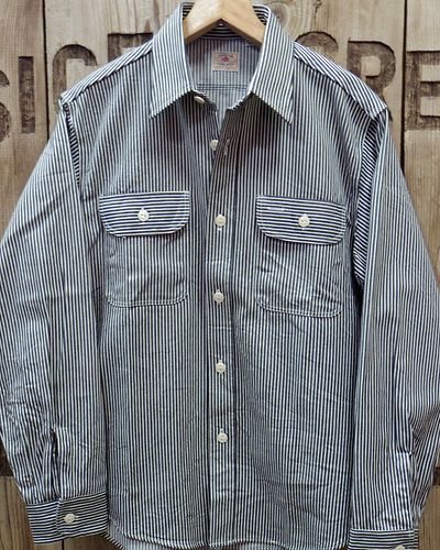画像4: Sugar Cane -HICKORY STRIPE L/S WORK SHIRT-