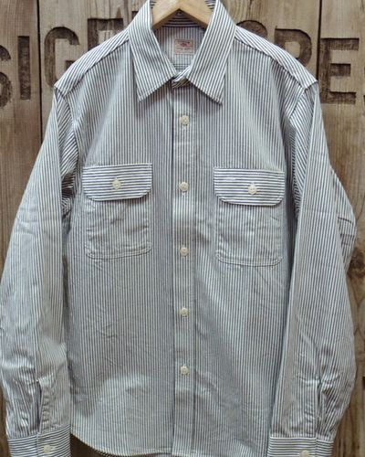 画像1: Sugar Cane -HICKORY STRIPE L/S WORK SHIRT-