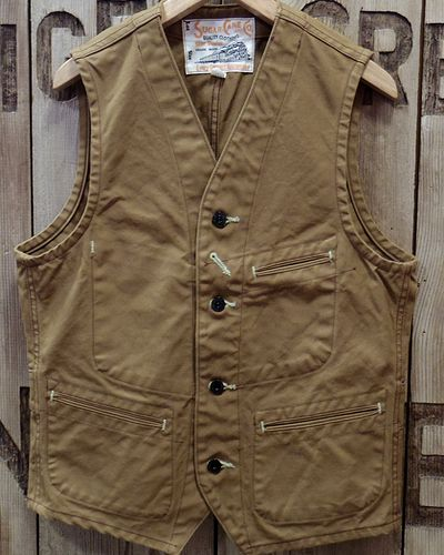 画像2: SUGAR CANE -13oz. BROWN DUCK WORK VEST-