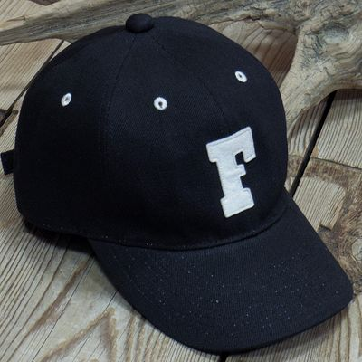画像1: FULLCOUNT -BLACK TWILL F BASEBALL CAP-