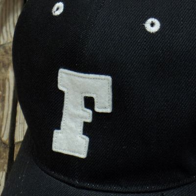 画像2: FULLCOUNT -BLACK TWILL F BASEBALL CAP-